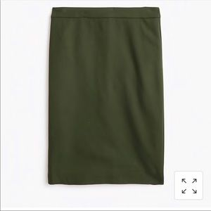 J.Crew Green Wool Pencil Skirt Size 6P